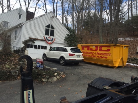 Dumpster service drop-Off at the location in Old Lyme, CT.